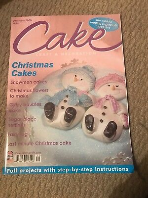 Cake Craft & Decoration Magainze December 2008 Issue Decorating Sugar Craft