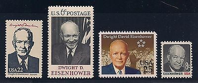 President Dwight D Eisenhower - Set Of 4 U.s. Postage Stamps - Mint Condition