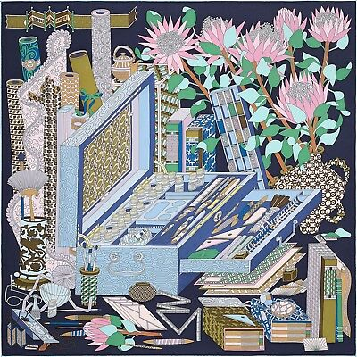 Hermes Scarf Les Tresors d'un Artiste New in Box with Tag Lovely Gift Idea