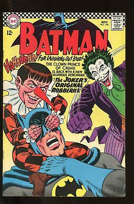 Batman #186 Very Good- 3.5 Joker 1966 Dc Comics