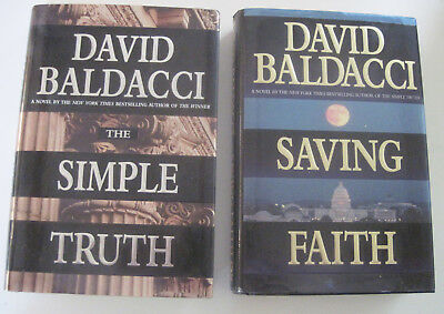 1998--David Baldacci--Lot Of 2 Thrillers--Hardcover Books W/Dust Jackets--Nmt