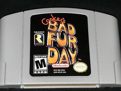 Conker's Bad Fur Day (Nintendo 64, 2001) Cleaned / Tested / Authentic N64 NM