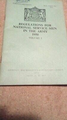 regulations for national service men in the army 1950