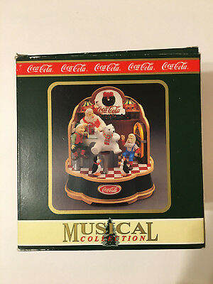 Vintage Coca-Cola Brand Musical Collection Santa's Soda Fountain 1994 - NIB