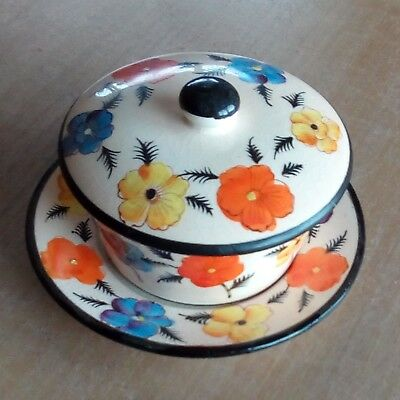 japanese pottery bowl and plate