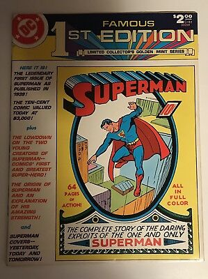 FAMOUS 1st EDITION SUPERMAN C-61 LIMITED COLLECTOR'S GOLDEN MINT SERIES 1979