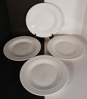 Hotel Suite Deep Salad Dinner Plate (s) LOT OF 4 Off-White May Department Stores