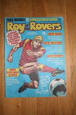 Roy Of The Rovers Comic 6Th February 1988 Excellent Condition 1980's 1980