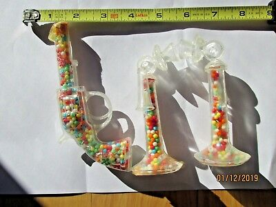 Pair Vintage Candy Containers - Plastic - Telephones & Pistol