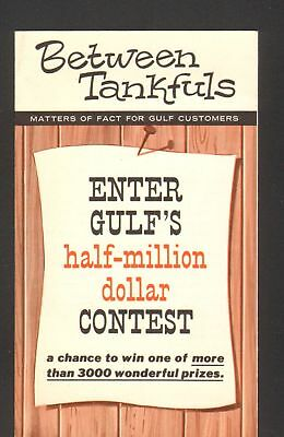 1946 Advertising Brochure Gulf Oil Tire Sale Red Tag Sale Contest