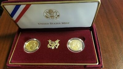 1999-W BU & Proof George Washington $5 Gold 2-Coin Set