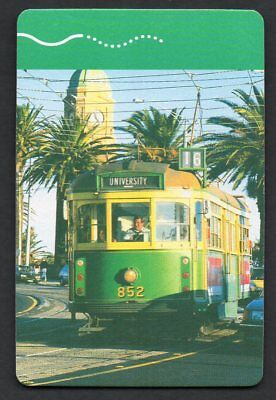 One Single  MELBOURNE TRAM   Vintage Playing Card