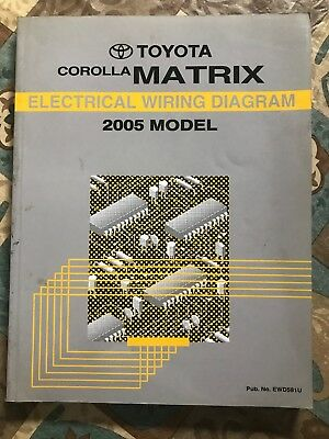 toyota corolla matrix electrical wiring diagram 2005 model manual service