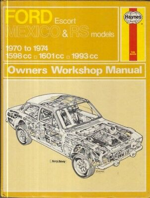ford escort mk1 mexico rs1600 rs2000 (1970-74) owners workshop manual  *hardback