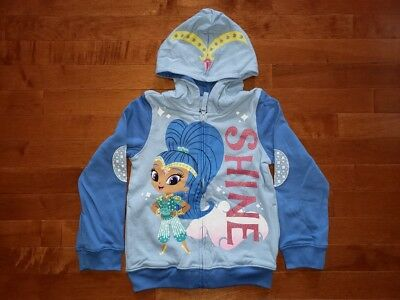 Shimmer and Shine Toddler Girl Jacket Hoodie Featuring Shine New 3T