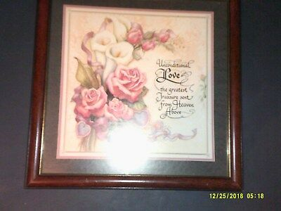 Home Interiors Wall Hanging Picture Unconditional Love Verse