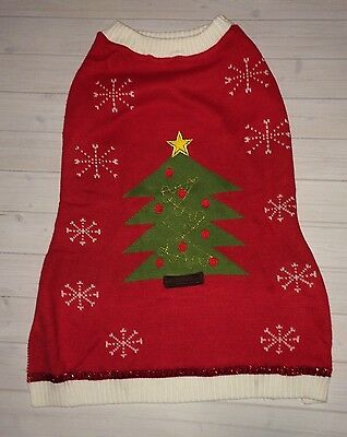NEW Dog Ugly Christmas Tree Red Green Sweater Outfit Costume Pet Size XL