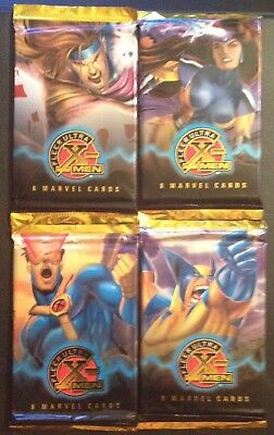 4 SEALED 1995 FLEER ULTRA Marvel X-Men CHROME Trading Card PACKS '95 ~FREE s&h