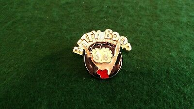 Vintage BETTY BOOP Enamel Lapel Pin Pinback Button 1 1/2""