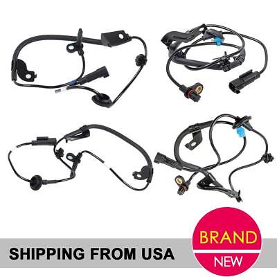 4x Front+Rear ABS Speed Sensor For 08 09 10 11 Mitsubishi Lancer 2.0L 2.4L FWD