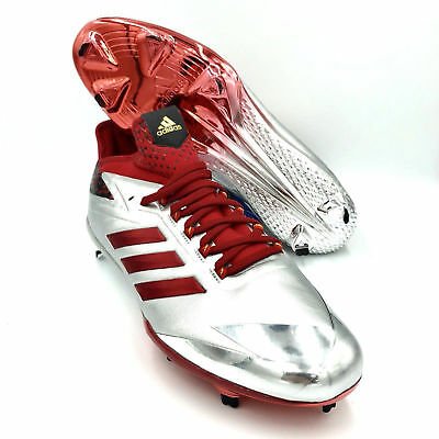 premium selection 4a588 e881a  NEW  Adidas Adizero SZ 12 Afterburner 4 Red Silver Mens Baseball Cleats  BY3676