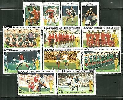 St Vincent Bequia 218-29 Mnh World Cup Mexico 1986