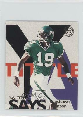 1997 Fleer Goudey YA Tittle Says 12 Keyshawn Johnson New York Jets Football Card