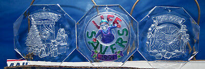 Life Savers 1991/92 Acrylic Christmas Ornaments - eight different.