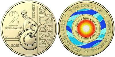 2 COINS - 1 x 2018 Invictus Games $2 Coin and 1 x 2018 Eternal Flame $2 Coin