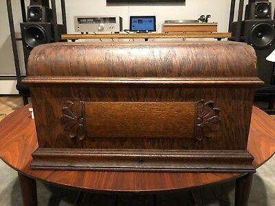 Antique Oak Sewing Machine Coffin Cover.