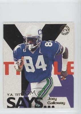 1997 Fleer Goudey YA Tittle Says 10 Joey Galloway Seattle Seahawks Football Card