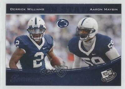 2009 Press Pass Blue #98 Derrick Williams Aaron Maybin Penn State Nittany Lions
