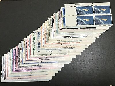 Old Collection 4 Cent Early Us Plate Blocks Nh 50 All Different, Mnh Pb564
