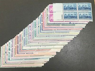 Collection 3 Cent Mint Us Plate Blocks Nh 50 All Different Mnh Pb563