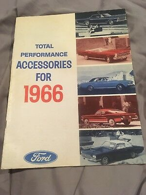 ORIGINAL Ford 1966 TOTAL PERFORMANCE ACCESSORIES BOOKLET - Mustang, Bronco