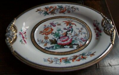 """Antique Till & Son 1850s SHANGHAE Hand Painted 6-1/4"""" X 8-1/2"""" Small Platter"""