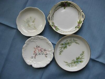 Lot of 4 Porcelain Butter Pats Water Lilies Nippon Creative Manor  Estate TJ-4