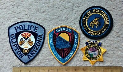 4 AZ Police Patches > Clifton, Scottsdale, Youngstown & Hamilton Co. Human Serv.