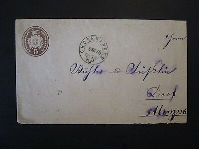 Siwtzerland 1876 Postal Stationery Cover Used - Z4980