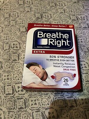 Breathe Right Tan Nasal Strips Extra Strength Instant Relief 26 Each