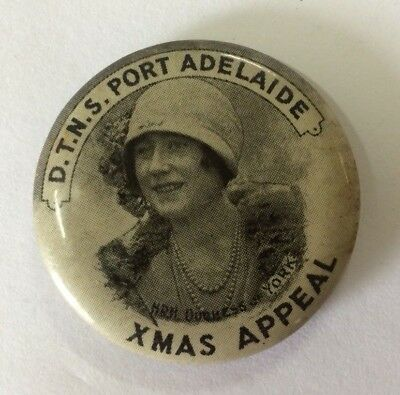 Button Badge DTNS Port Adelaide Duchess Of York, District Trained Nurses Society