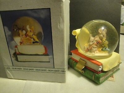 Charming Tails *LETTER to SANTA WaterGlobe-HTF-Dean Griff-New in box*Rare*87518