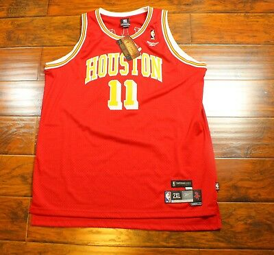 NEW Yao Ming Houston Rockets 2XL Reebok Sewn Patch Red Home Basketball  Jersey 6243cb3b5