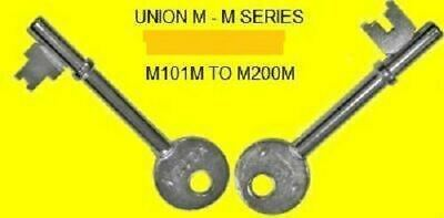 MM Union Keys to code M101M - M200M (MORTICE key) FOR MORTICE LOCKS GREAT PRICE