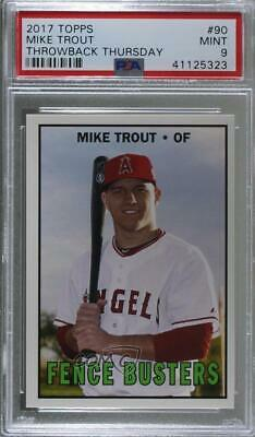 2017 Topps Throwback Thursday #TBT #90 Mike Trout PSA 9 MINT Los Angeles Angels