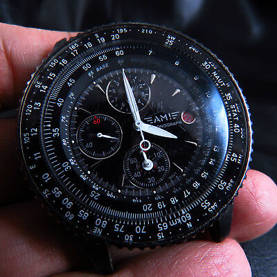 All Steel Ami Chronograph Pilot Quartz Men  Watch