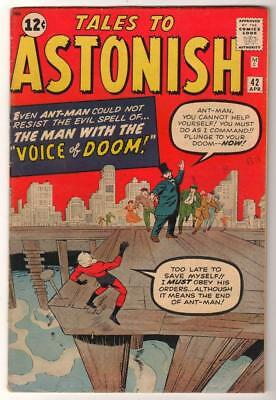 Marvel TALES TO ASTONISH 42 Pym GIANT MAN AVENGERS Mid GRADE 6.5 FN+