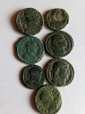 072.Lot of 7 Ancient Roman Bronze Coins,Very Fine