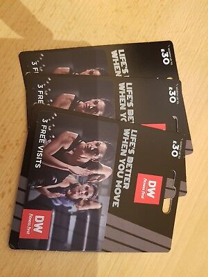 3 x DW FITNESS FIRST gift card (Worth £90)
