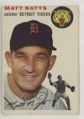 1954 Topps #88 Matt Batts Detroit Tigers Baseball Card